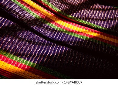 A colourful plastic mats with shadows of lights unique photo