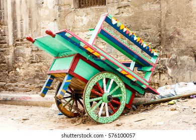Colourful push cart.