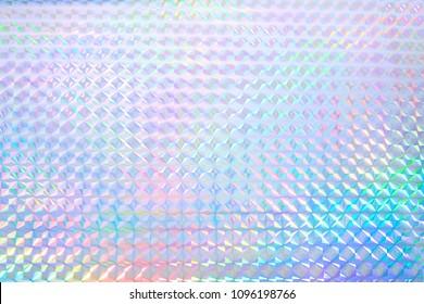 Colourful rainbow colour hologram.