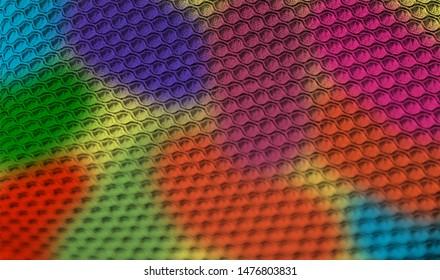 Colourful round shape patterns of a clothes unique photo