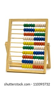 Colourful  school  abacus on a white background