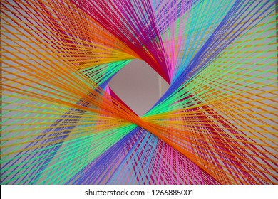 Colourful silk thread