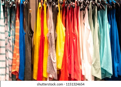 Colourful sleeveless tank tops for sale