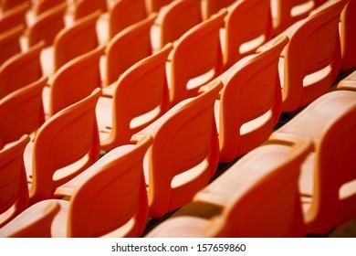 colourful stadium seat