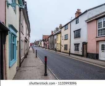 Colourful street in Sudbury, UK
