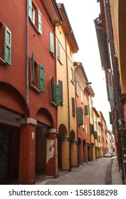 Colourful streets in Bologna Italy
