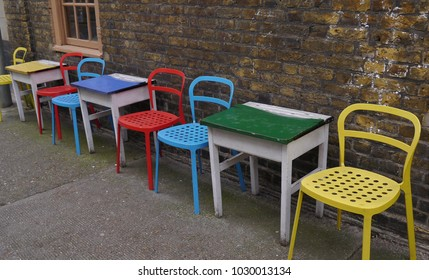 Colourful Table and Chairs Wapping