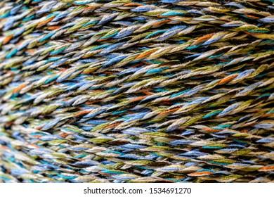Colourful thread spool. Spool of thread. Thread texture.