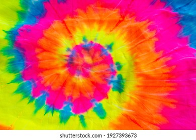Colourful tie dye cloth, texture and background