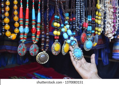 colourful trendy ornaments and jwellery