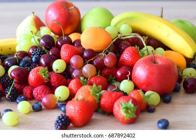 colourful variety fruits
