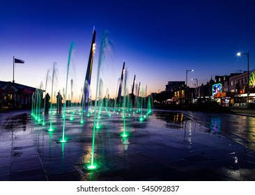 The colourful water features are an attraction in Southend, Essex