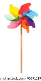 Colourful windmill isolated on a white background