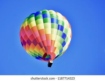 colourfull balloon in the bleu Sky
