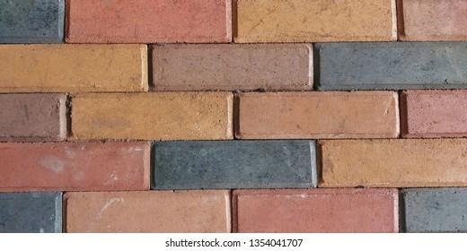 A colourfull bricks wall.