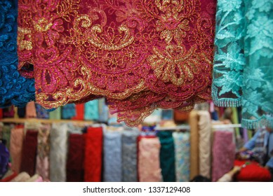 Colourfull brocade from indonesia