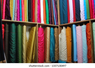 colourfull fabrics from indonesia