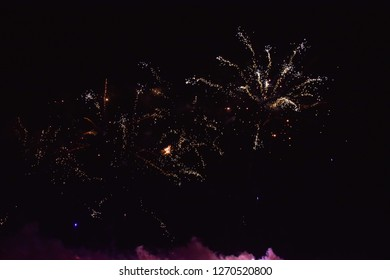a colourfull firework