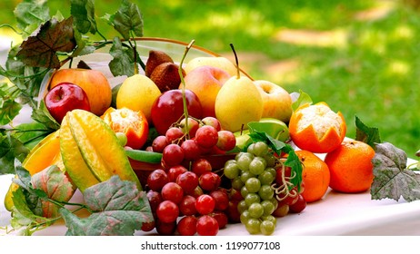 Colourfull fruits on table