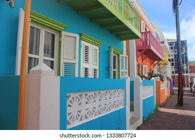 The colourfull houses of Curacao