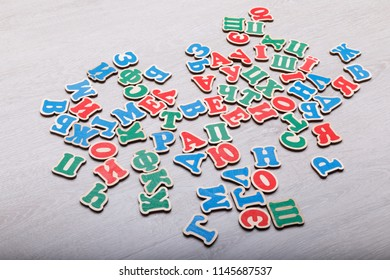 Colourfull letters of the alphabet