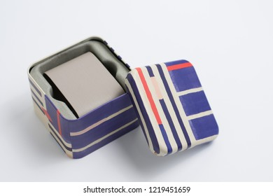 Colourfull metal box for watches or other accessories