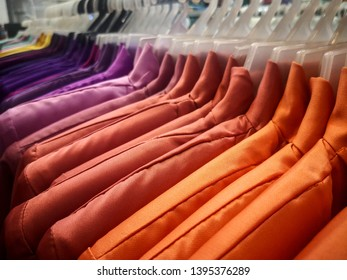 "colourfull muslim cloth on shop. Famous ""Baju melayu"" called in Malaysia"