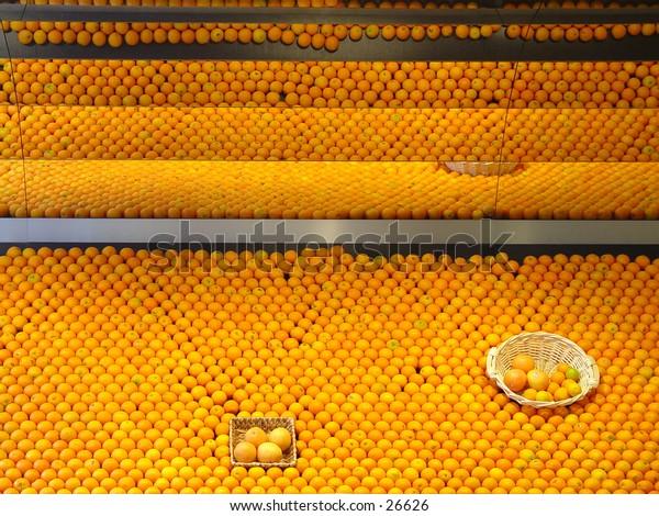 Colourfull oranges on display