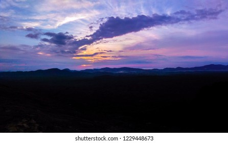 Colourfull sky with purple colour