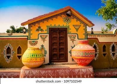colourfull traditional Indian house