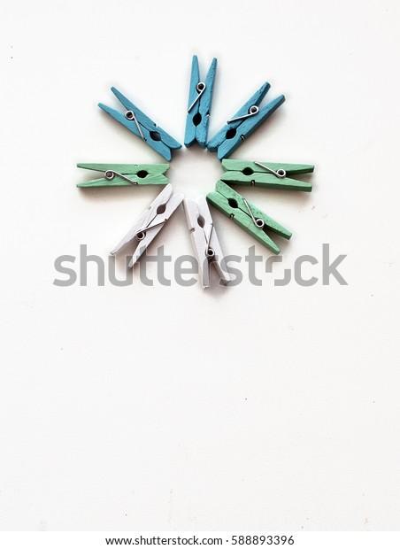 Colours clothespins