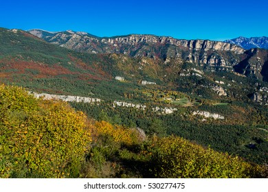 Colours of the mountains in the fall (Pyrenees Mountains, Spain).