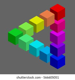 Colours optical deception grey background