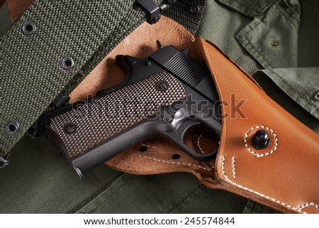 Colt pistol in a