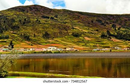 Colta Lake, Laguna de Colta, Ecuador