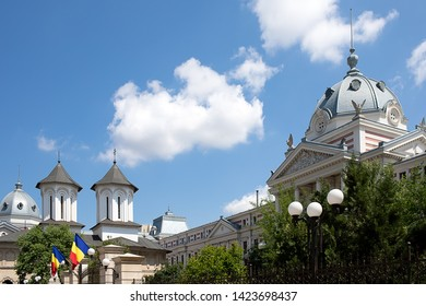 The Coltea Hospital and Church in Bucharest Romania.