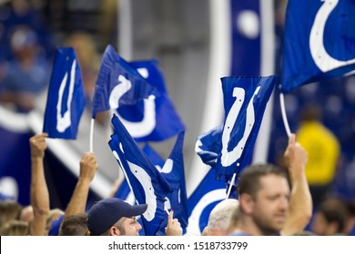 Colts Fans - Indianapolis Colts host the Oakland Raiders on Sunday Sept. 29th 2019 at Lucas Oil Stadium in Indianapolis, IN -USA