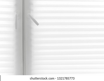 Colum and Line pattern of white plastic curtain background - Art and Wallpaper concept