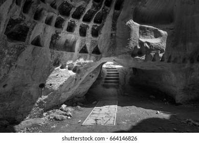 Columbarium cave at Midras Ruins, Israel