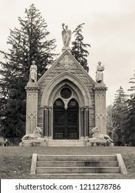 Columbarium in a Cemetery