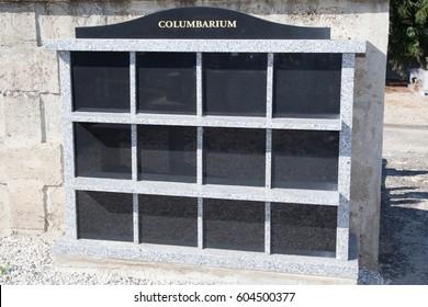 a columbarium in a cemetery