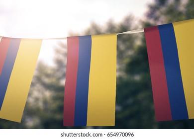 Columbia flag pennants
