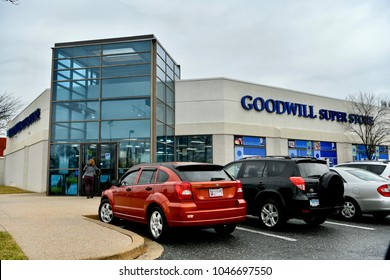 COLUMBIA, MD, USA - MARCH 15, 2018: Goodwill thrift store on  busy day.