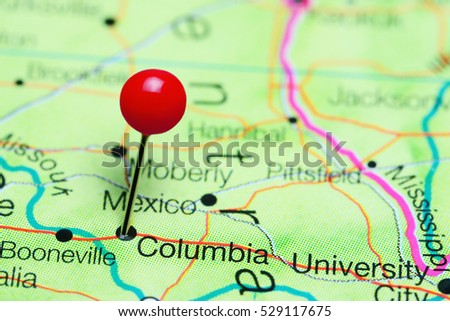 Columbia Pinned On Map Missouri Usa Stock Photo Edit Now 529117675