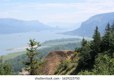 Columbia River Gorge Looking East from Crown Point