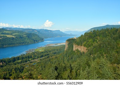 Columbia River Gorge view from Portland Women's Forum viewpoint.
