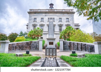 COLUMBIA, SC - NOVEMBER 2, 2018: South Carolina African American History Monument of the grounds of the South Carolina Capitol Building in Columbia, SC