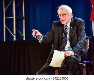 Columbia S.C. - November 21, 2015 - Bernie Sanders speaks at 20/20's Criminal Justice Forum which was held at Allen University.  Dr. Ben Carson and Martin' O'Malley were also in attendance.