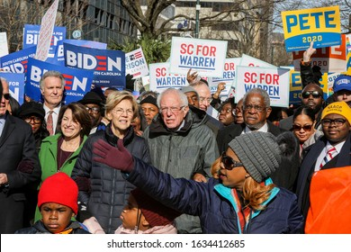 Columbia, SC/ USA January 20, 2020 : Eight candidates currently vying for the Democratic Party nomination for president came to march and speak to a large gathering for King Day at the Dome.