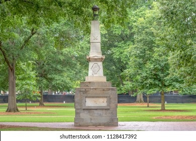 COLUMBIA, SC/USA JUNE 5, 2018: Jonathan Maxcy Monument on the campus of the University of South Carolina.